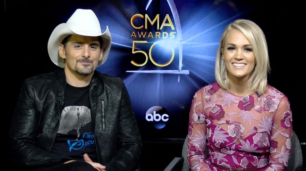 Brad and Carrie CMA 2016 2